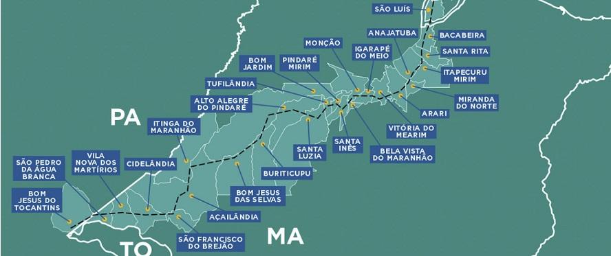 Municípios que integram o Consorcio da Estrada de Ferro Carajas...