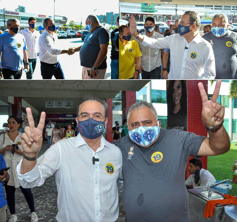 """Maxdeyne de Araujo Guimaraes, o """"Maxplan"""", é aliado de primeira hora do senador Roberto Rocha; Nas fotos, eles foram votar juntos no prefeito Eduardo Braide..."""