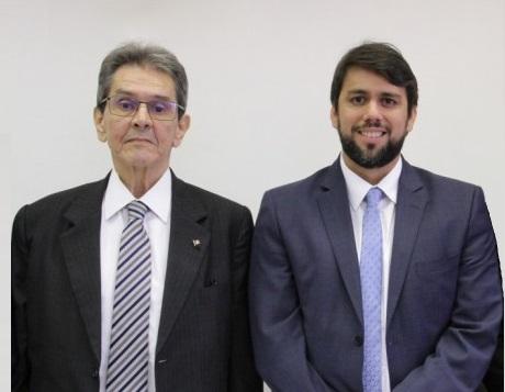 Pedro Lucas e o presidente nacional do PTB, Roberto Jeferson... quando ainda eram aliados...