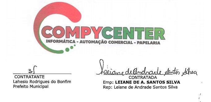 Prefeito Lahesio Bonfim assinou os contratos com a esposa do seu secretário de Adminsitração...