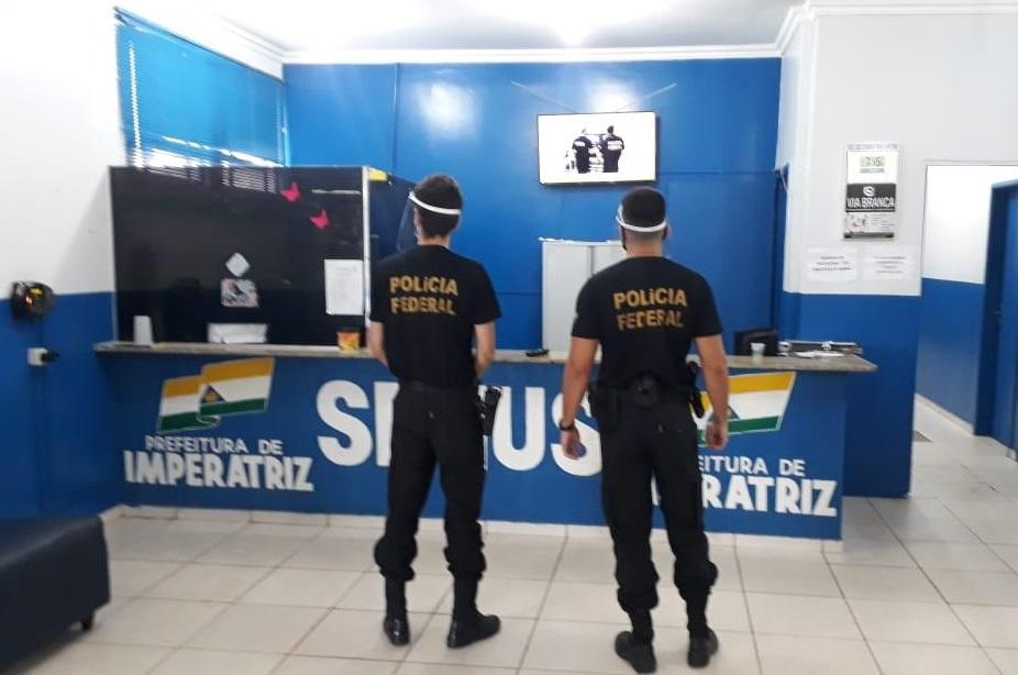 Policia Federal na secretaria Municipal de Saúde de Imperatriz...
