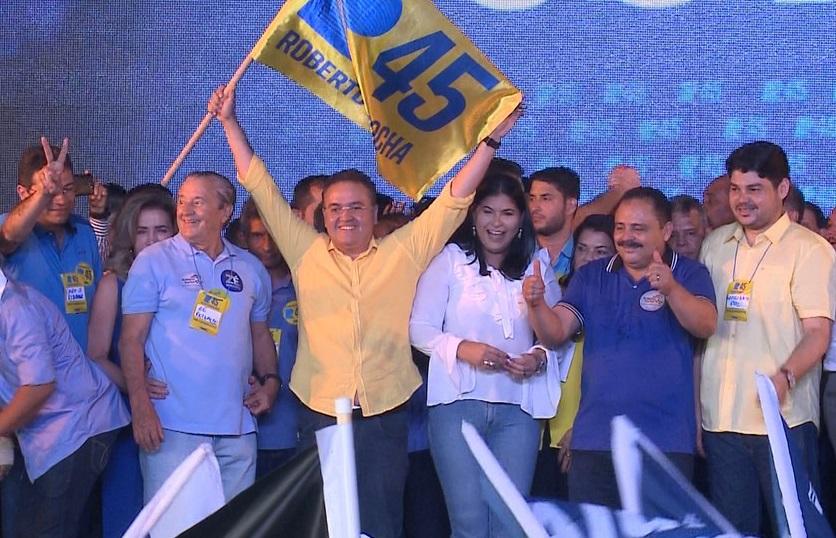 Roberto Rocha durante sua convenção, em 2018...