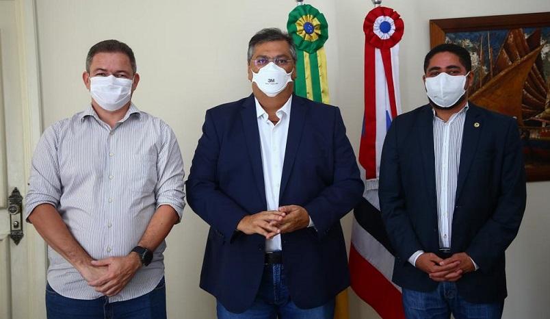 O agora vice-líder foi recebido pelo governador Flávio Dino...