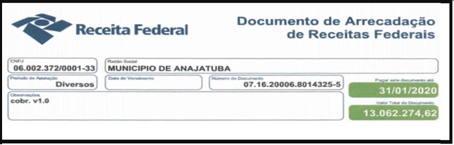Apenas com a Previdência a dívida ultrapassa R$ 13 milhões...