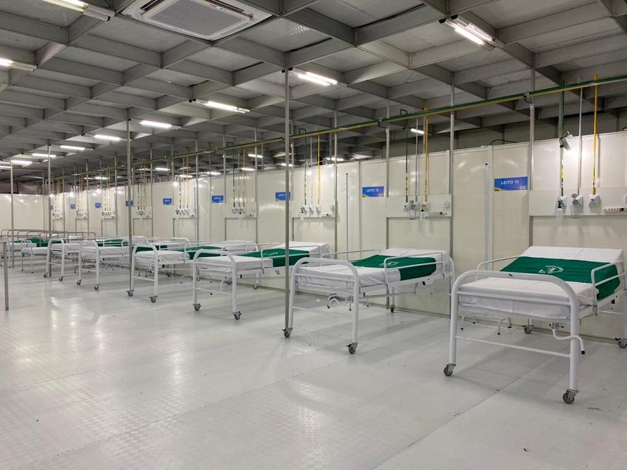 Maranhão implantou hospitais de campanha para combater a pandemia.
