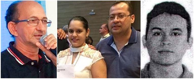 Prefeito Zé Farias, sua filha Pollyanna Martins, o genro Zé Filho e o jovem médico Bruno Viana Pontes...