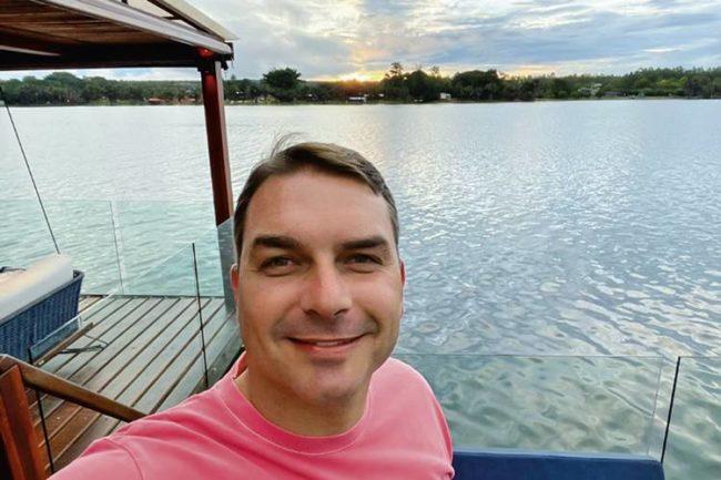 Flávio: selfie na chácara do advogado acusado de corrupção