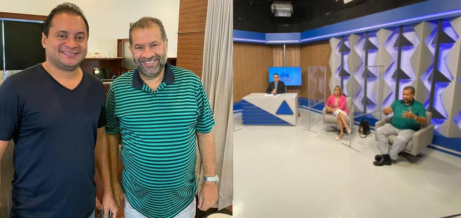 Weverton fez questão de publicar nas suas redes sociais fotos com Lupi pouco antes da entrevista em Teresina, deixando claro que estava mandando um recado ao governador Flávio Dino.