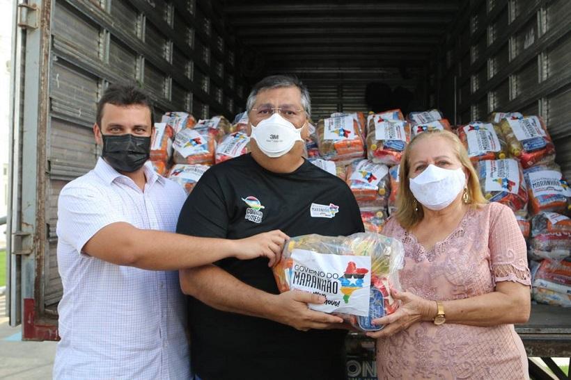 Glalbert Cutrim participa da entrega de cestas básicas aos municípios de Olinda Nova, São João Batista e São José de Ribamar