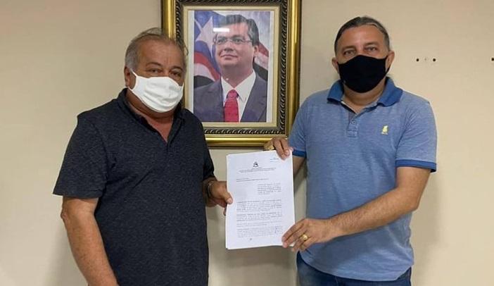 Prefeito de Alto Alegre com o presidente do Iterma, Júnior Verde.