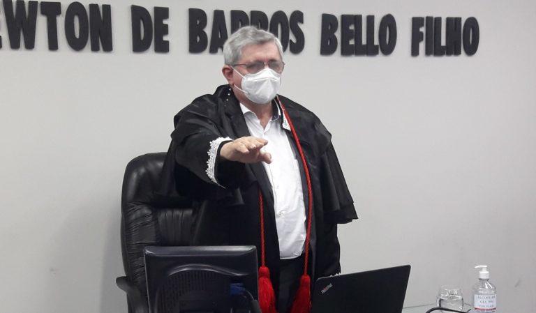 Washington Oliveira logo após ser eleito para o comando do TCE-MA