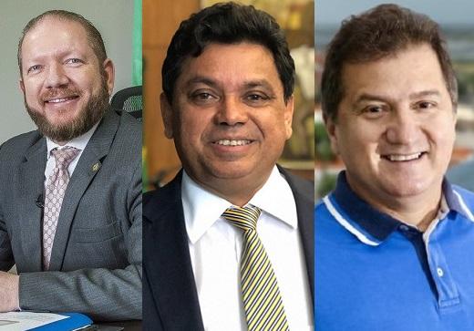 Othelino, Jerry e Simplicio podem compor chapa com Dino ao senado em 2022...
