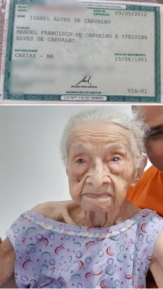 Isabel Alves de Carvalho completou 120 anos neste semana.