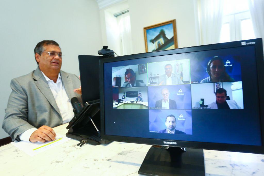 Em reunião com o governador, Alcoa anuncia retomada da produção de alumínio no Maranhão